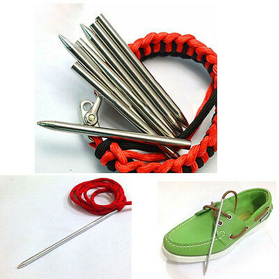 """Accessories 3""""Stainless Steel Weave Needle Paracord Thread Shaft Tip Stiching"""