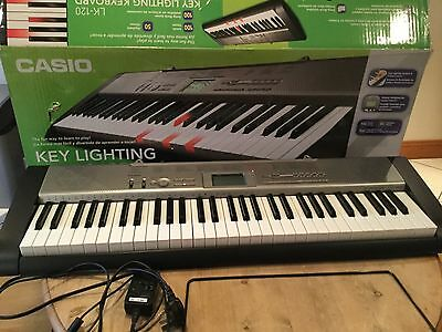 Casio Lk-120 Light Up Keyboard Learn To Play With Key Lighting System