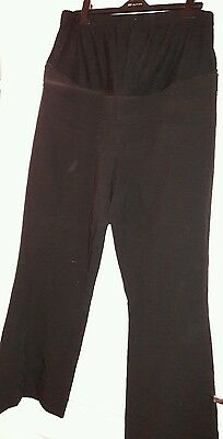 Size 12 black over bump maternity Red Herring trousers