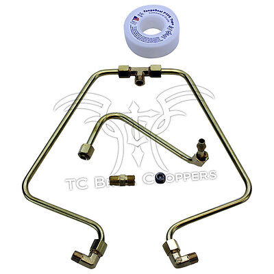Brass Rocker Box Oil Line Set Fits Shovelhead 1966-1984
