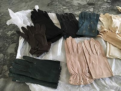 Vintage Glove Collection, 12 pairs, mostly leather