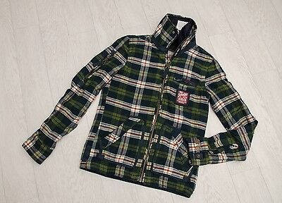 IMMACULATE mens 'SUPERDRY' Checked  SUPER THICK Shirt Size S (WADDED)