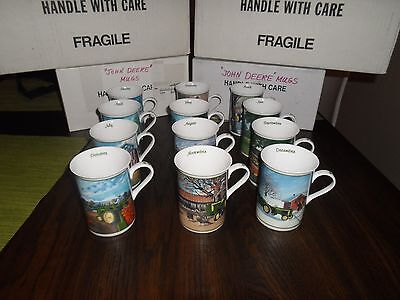 Set of 12 John Deere Farm Year Mugs DANBURY MINT January-December