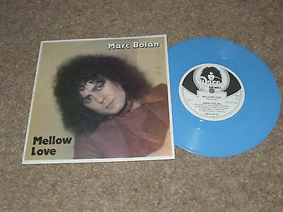 MARC BOLAN MELLOW LOVE = RARE BLUE VINYL 7inch PICTURE SLEEVE RELEASE