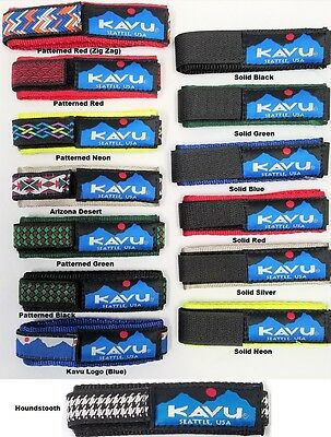 KAVU WatchBand Nylon Tubular Webbing Replacement Strap Hook & Loop Closure NWT