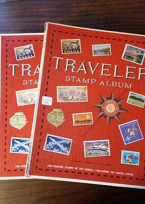 Two American traveller world stamp albums