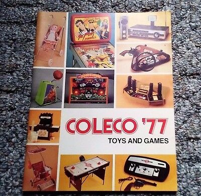 "Rare Coleco 1977 Toys And Games Dealer Catalog 65 Pages Full Color 8 1/2"" X 11"""