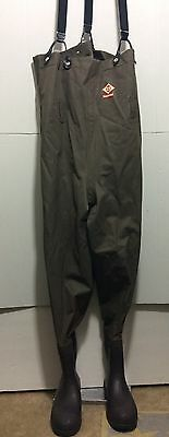 Red Ball Waist High Waders Men's Size 12-13 Boots Fishing Suspenders Water