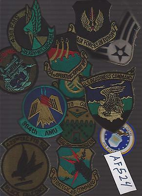 Lot Of Air Force  Military Patches (Af524)