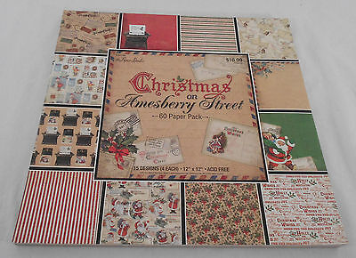 Paper Studio Scrapbooking Paper Pack 60 Pages 15 Designs Amesberry  12 x 12