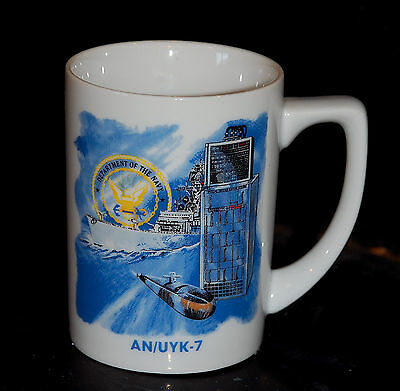 An/uyk-7 Department Of The Navy Unisys Computer Coffee Mug Military Computer