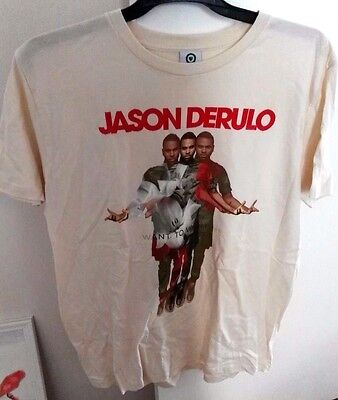 """JASON DERULO """"Want to Want me"""" t-shirt, brand new, size Large"""