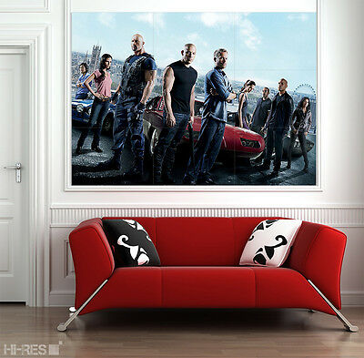 THE FAST AND THE FURIOUS Movie POSTER 06 Paul Walker Vin Diesel 50x35 in XXL ART