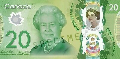 CANADA $20 2015 COMMEMORATIVE  POLYMER  - QUEEN REIGN 90th birthday Bank note