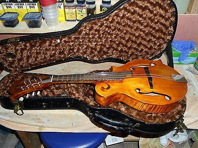 New Mia F-7AE F-Style Mandolin & Case -Acoustic/Electric -Made in America