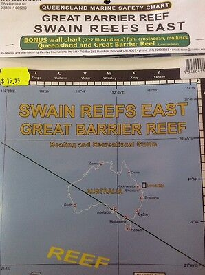 Camtas Marine Safety Chart Great Barrier Reef: Swain Reef East