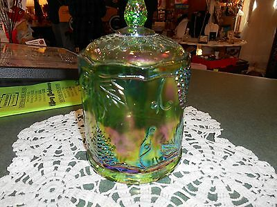 Indiana Green Carnival Biscuit/ Candy Jar