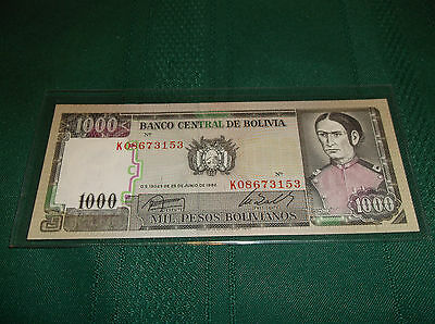 Bolivia 1000 pesos bill, bank note