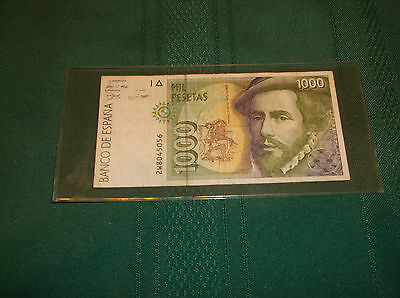 Spain 1000 Pesetas bill, bank note