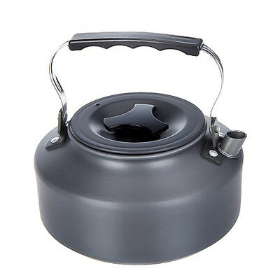 1.1L Aluminum Portable Hiking Camping Survival Pot Water Coffee Kettle Teapot