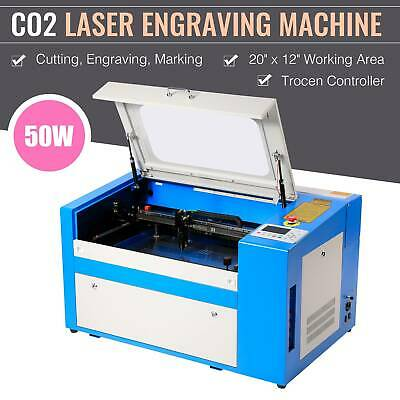 50W High Precision CO2 Laser Cutting Engraving Engraver Machine USB