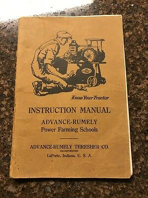 Advance Rumely Oil-Pull Power Farming Schools Hand Book LaPorte IN