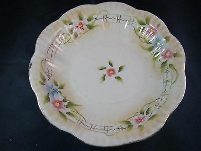 ANTIQUE VINTAGE Hand Painted Bowl Floral MADE IN JAPAN 8 INCH WIDE 1 3/4 DEEP