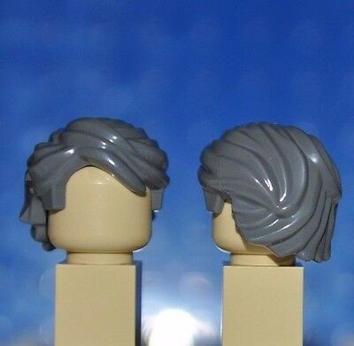 Lego Parts-Dark Grey Hair Piece/girl/boy Minifigure Wig/swept Back Tousled T