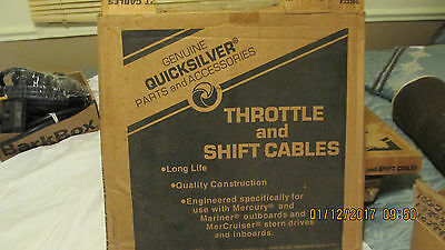 Mercury Quicksilver Throttle Shift Cable. 15 ft. 2 in. Part 34555A15. (item5036)
