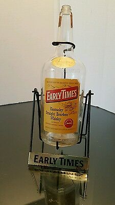 Early Times Vintage  Kentucky Bourbon Whiskey Bottle Holder Tipper Display.