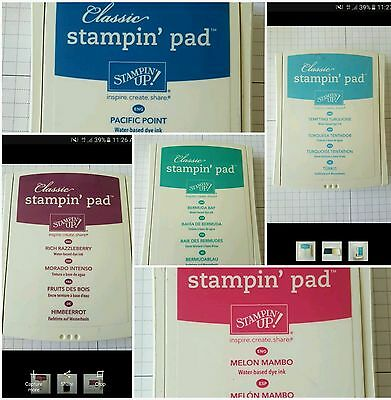 Stampin Up Ink Pad Bulk Buy 5 Colours In Excellent Condition Stamping Cardmaking