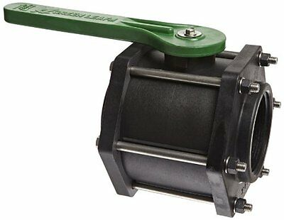 "Green Leaf V300FP Polypropylene Bolted Ball Valve, Full Port, 3"" NPT Female"