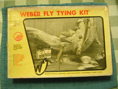 Vintage Weber Fly Tying Kit From Old Tackle Box Estate Sale Find Trout Fishing