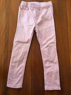 Girls Pink Jeans H&M Sz 3-4- Great Condition