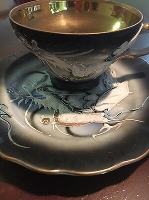 Dragonware Japanese China Antique Collectable Tea Cup And Saucer & Makers Mark