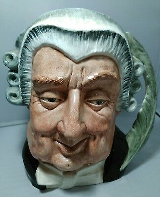 Royal Doulton Character Jug THE LAWYER D6498 Large England Feather Handle