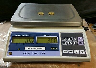 COIN COUNTING SCALE AUSTRALIAN COINS DIGITAL PLATFORM 15Kg SCALE GREAT CONDITION