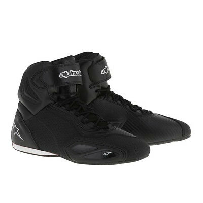 Alpinestars Mens Faster 2 Vented Ride Shoe - Black Motorcycle Boot Street Road C