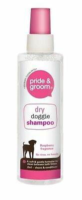 New Pride & Groom Pet Head Dry Clean Waterless Spray Dog Shampoo 200ml