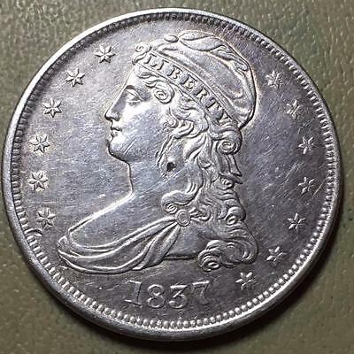 1837  Capped Bust Half Dollar   Choice Au Details   #6500