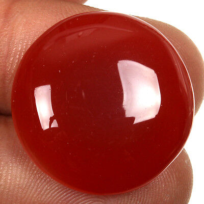 Glorious Natural 23x23 mm CARNELIAN ROUND CABOCHOON Loose Gemstone 27.50 Cts