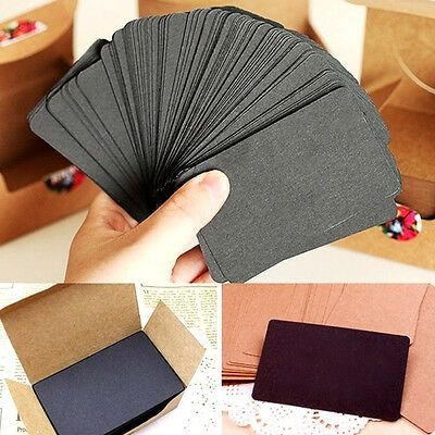 100pcs Kraft Paper Message Card Word Business Thank You Cards Blank Useful
