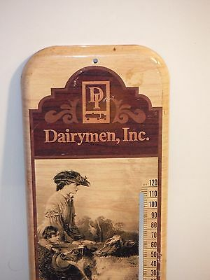 Vintage Dairymen Milk Farm Thermometer Advertising Sign