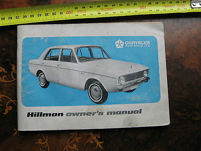 Hillman Owners Manual