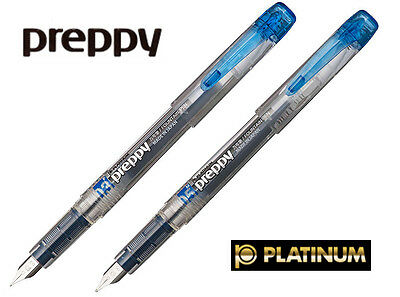 Platinum Preppy Fountain Pen Blue Black Choice of 0.3mm or 0.5mm tip (Tracking)