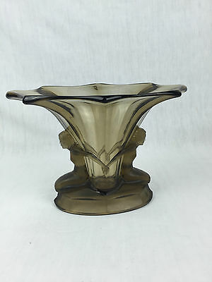 - Beau Vase Art Deco - Verre Moule - Walther And Sohne - 1930