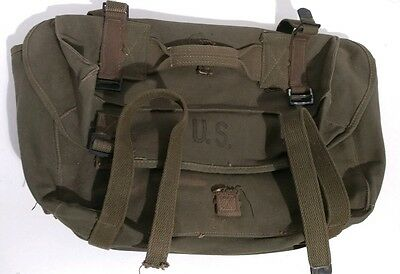 Vintage WW2 Field Pack Lower Cargo Green US Army M-1945 Military dated 1944