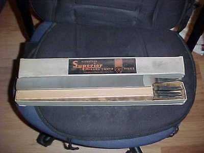 """6 NOS Nicholson Superior 14""""  Milled Tooth Flat Smooth Files In Box Made In USA"""