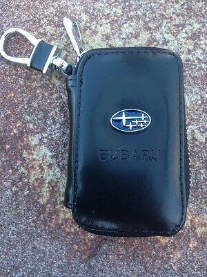 Subaru Auto Car  Key With  Remote Holder Case Bag Zip Clip Wallet Pouch Rr56#