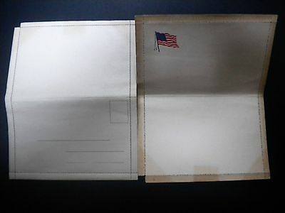 Lot Of 2 Unused Wwi U.s. Soldier's Perforated Letter Stationery